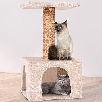Leopet Rascador Gato - Árbol para Gatos Árbol Escalada algodón 60 cm de Alto: Amazon.es: Productos para mascotas