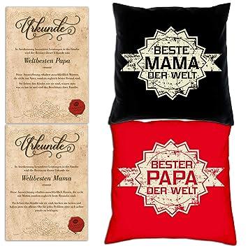 Geschenke Für Eltern Zu Weihnachten.Soreso Design Geschenk Set Für Eltern Zu Weihnachten 2 Kissen 2