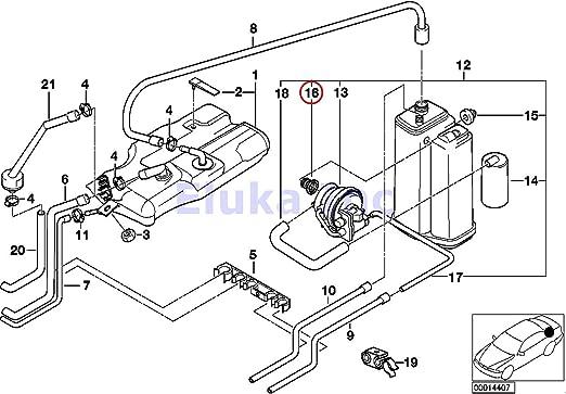 For BMW X1 Evaporative Emissions System Leak Detection Pump Grommet 14669PK
