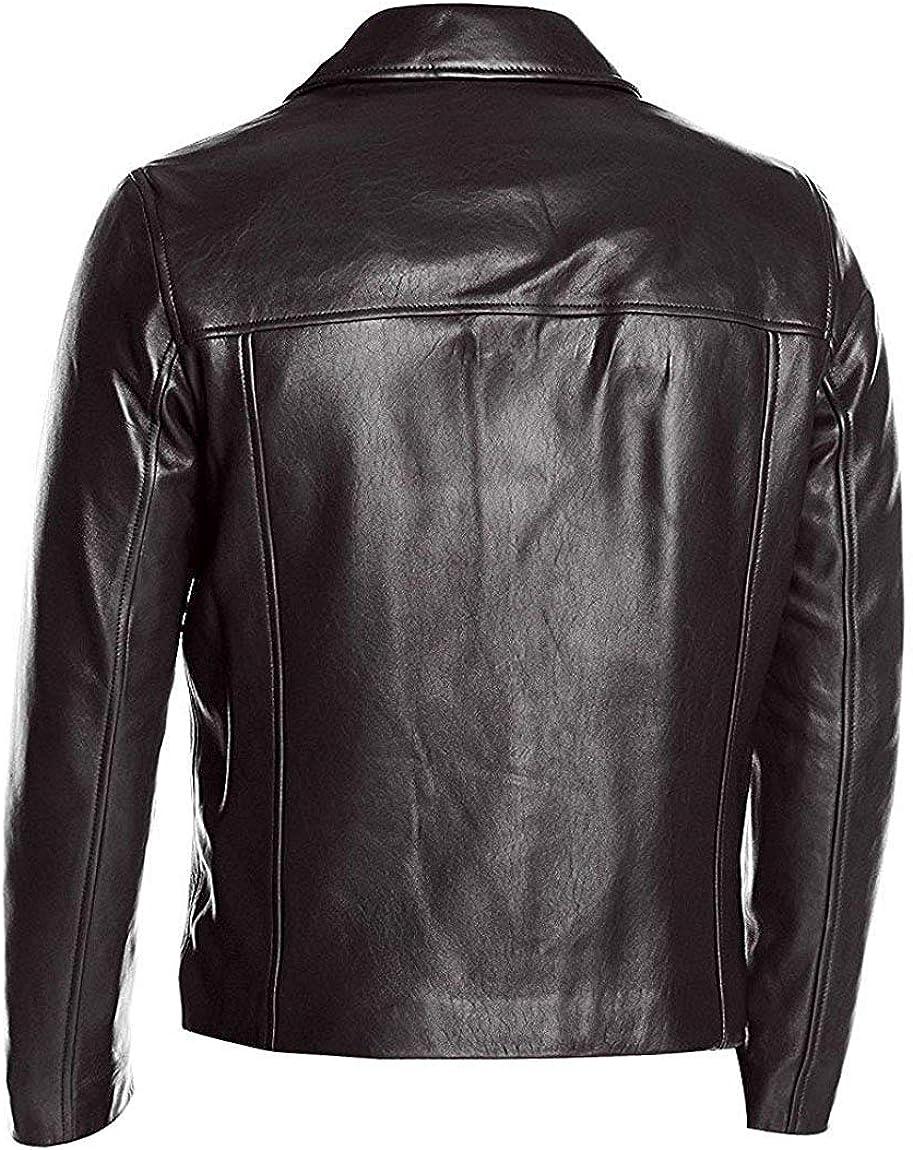 Jackets Hub Mens Dark Brown Vintage Classic Leather Jacket