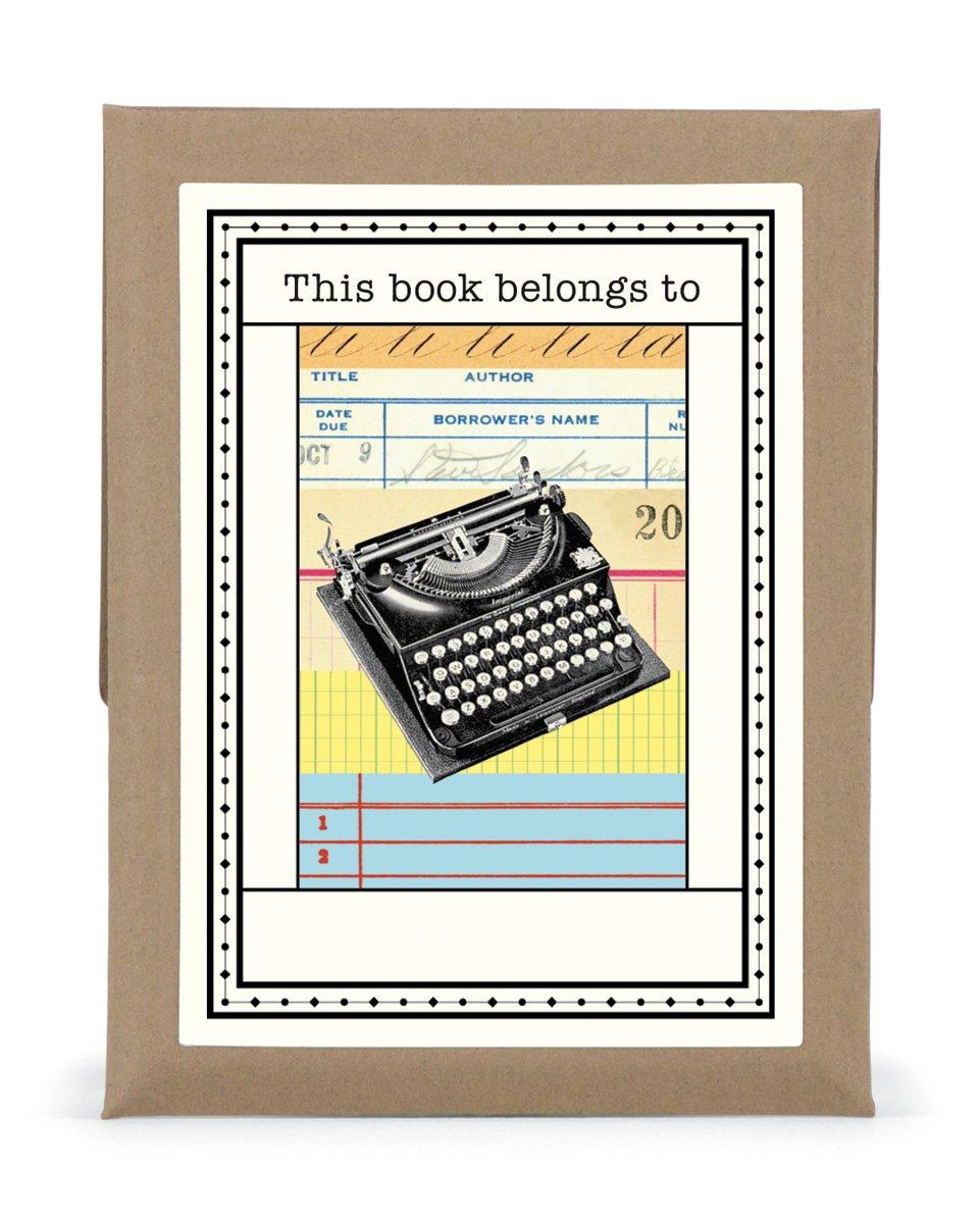 Cavallini 18-Pack Typewriter Bookplates