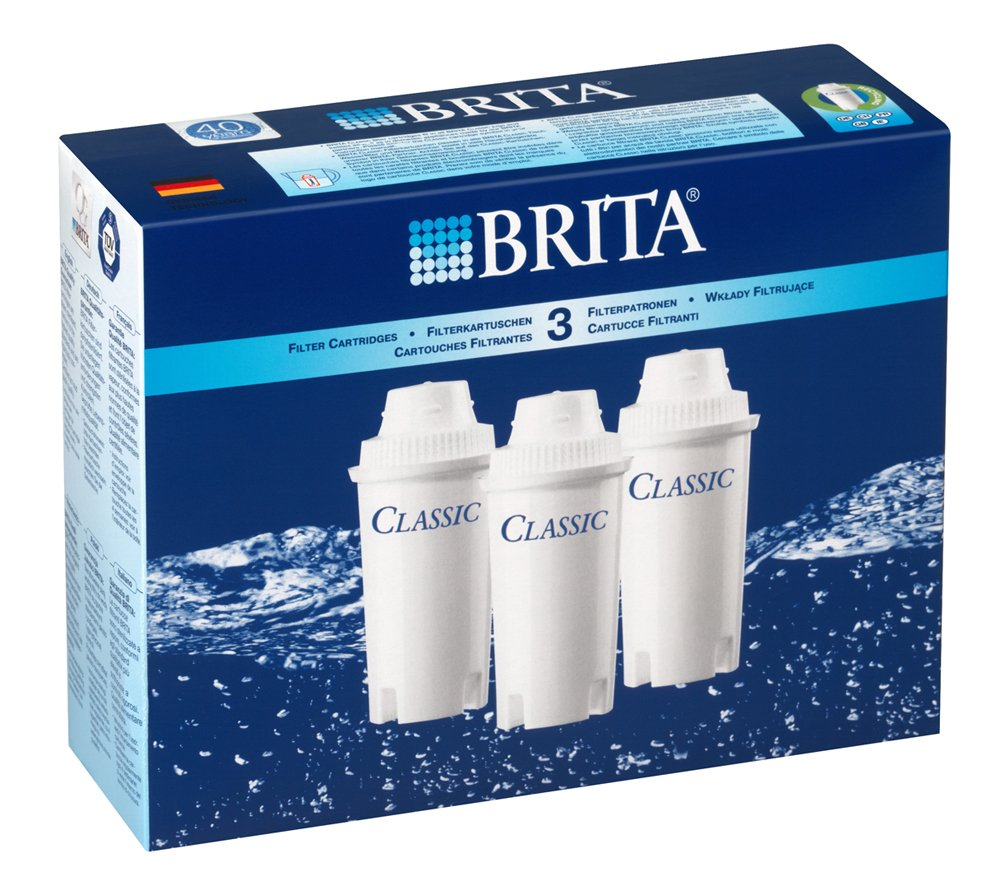 Brita CLASSIC, Pack 3 - water filters (Pack 3) Classic Pack 3 100281