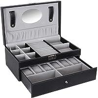 Jewelry Storage Box Double layer Jewelry Box with Drawer Case for Watch Jewelry Display