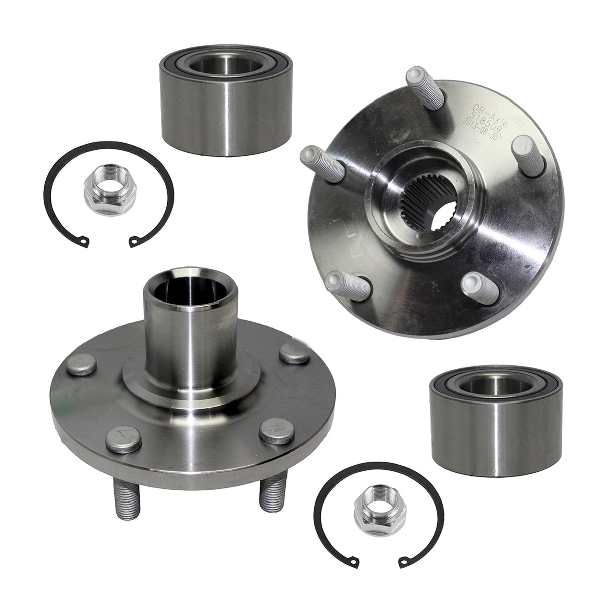Detroit Axle - Front Wheel Bearing & Hub Assembly Left & Right Side for  92-03 Lexus ES300 - [92-03 Camry V6] - 95-04 Avalon - [98-03 Sienna] -  99-03