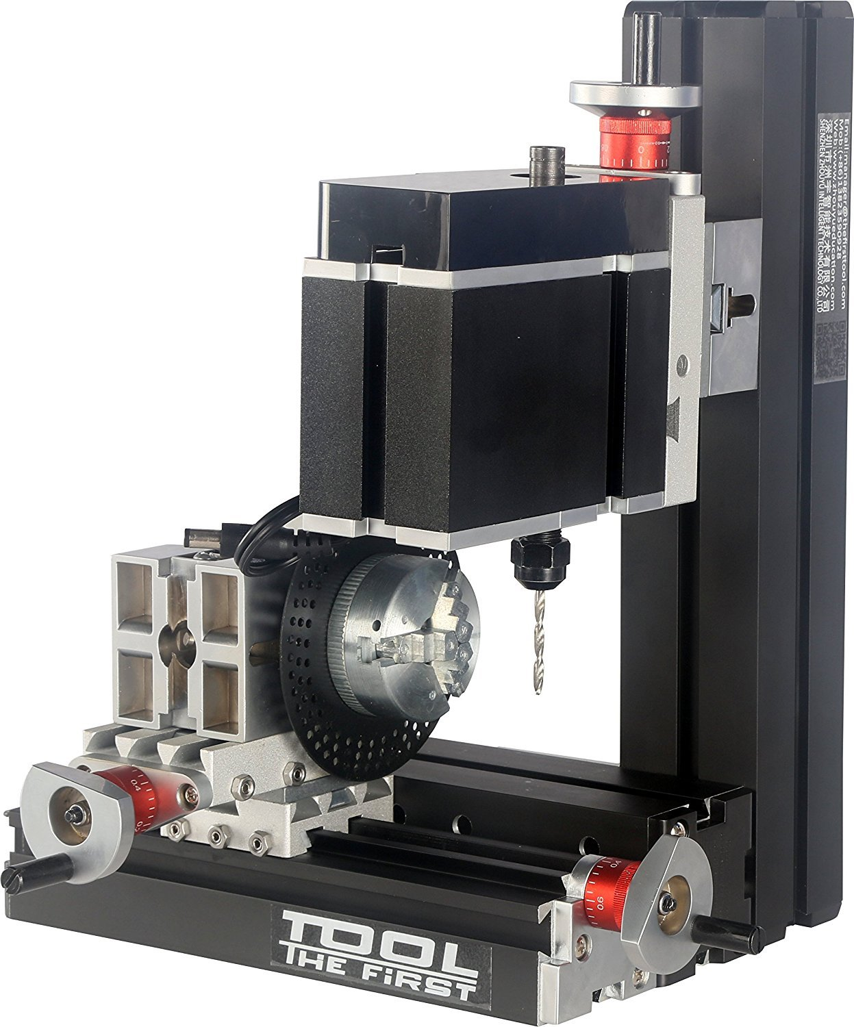 Metal Working Lathe Drilling Machine With Dividing Plate Big Power Electroplated Mini Metal Six Shafts Drilling And Milling Machine