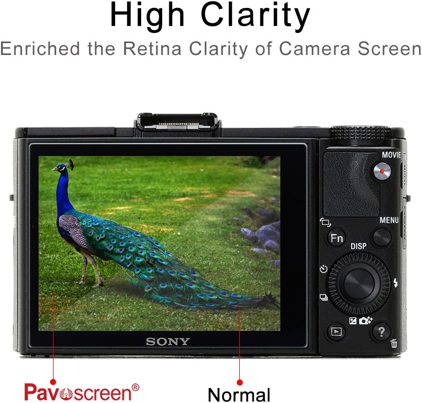 Sony RX100 DSLR Compatibility Camera Tempered Glass Film,Pavoscreen Crystal Clear Glass 9H Hardness Bubble Free Camera Screen Protectors for Sony RX100 Ⅱ//Sony RX100 Ⅲ//Sony RX100 IV//Sony A7 Ⅱ