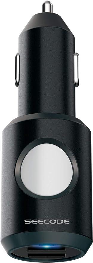 Seecode Ecall Sos Charger Ladegerät Smartphone Auto Bluetooth Usb Kfz Notrufsystem Crash Sensor Mit App Quick Charge Klein Kompakt Für Jedes Fahrzeug Geeignet Schwarz Navigation