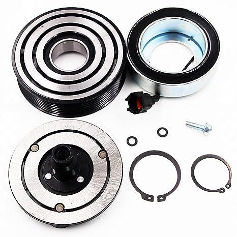 quioss nuevo a/c compresor AC Embrague Kit (Polea, rodamientos, bobina,