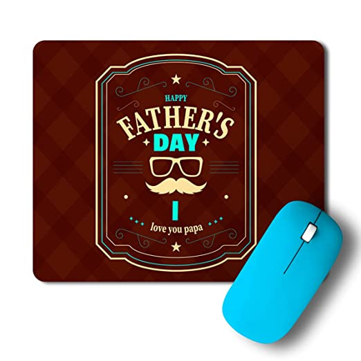 PosterGully   Happy Fathers Day Love You Papa Mousepad