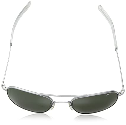 Amazon.com  American Optical Pilot Aviator Sunglasses 57 mm Silver Frame  with Bayonet Temples and True Color Gray Glass Lenses  Sports   Outdoors c6403039c62