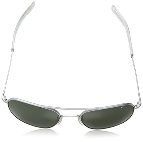 Amazon.com  American Optical Pilot Aviator Sunglasses 57 mm Silver Frame  with Bayonet Temples and True Color Gray Glass Lenses  Sports   Outdoors 9edcaad0ca