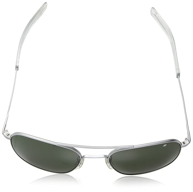 Amazon.com  American Optical Pilot Aviator Sunglasses 57 mm Silver Frame  with Bayonet Temples and True Color Gray Glass Lenses  Sports   Outdoors d8b03306a3b