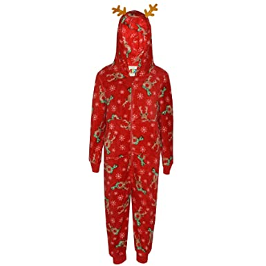16ae8dfc2b A2Z 4 Kids® Kids Girls Boys A2Z Onesie One Piece Extra Soft Fluffy Rudolph  All in One Xmas Costume New Age 2 3 4 5 6 7 8 9 10 11 12 13 Years   Amazon.co.uk  ...