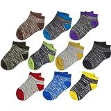 Ayiran Kids Boys Girls Athletic Ankle Half Cushion Low Cut Socks Toddler Unisex Breathable Cotton Fashion Socks-10 pairs