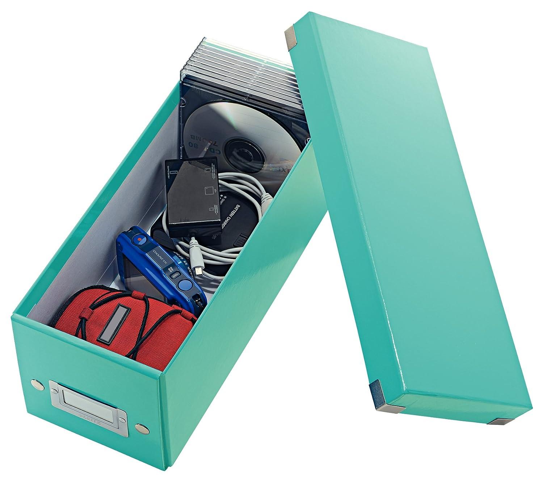 Mit Deckel 60410064 Click /& Store Gr/ün Leitz CD Aufbewahrungsbox