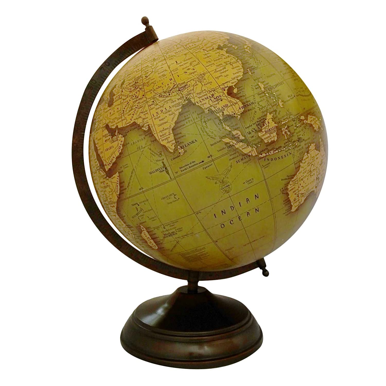 CRAFTSTRIBE 17' Big Globe rotante decorativo globo a mano mondo mappamondo mappamondo
