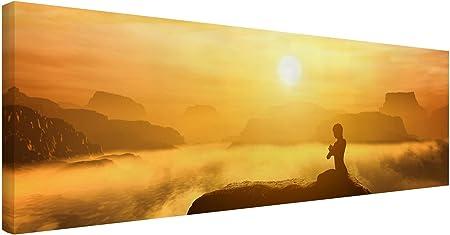 Cuadro de lienzo ORIGINAL: cuadros decorativos de lienzo auténtico y pesado, de 320 g/m² y bastidore