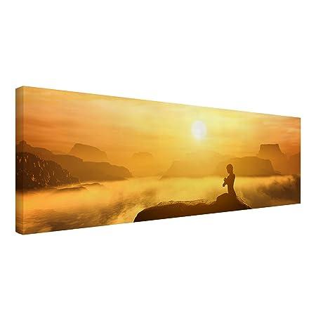 Bilderwelten Cuadro en Lienzo - Yoga Meditation - Panorama ...