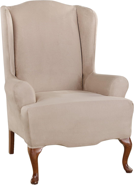 Amazon.com: Sure Fit - Funda para silla de ante elástico ...