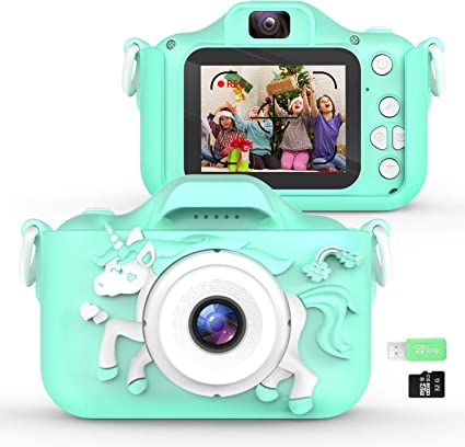 Amazon Com Waayu Upgrade Kids Camera 1080p Hd Digital Video Cameras For Children Best Birthday Gifts For Age 3 9 Child Portable Selfie Toy For 3 4 5 6 7 8 9 Year Old Boys Girls With