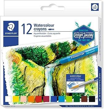 Multi-Colour STAEDTLER 223 C12 Watercolour Karat Aquarell Crayons Pack of 12
