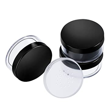 4706ab204d57 Hotop 3 Pack 50 ml Plastic Empty Powder Case Face Powder Makeup Container  Blusher Cosmetic...