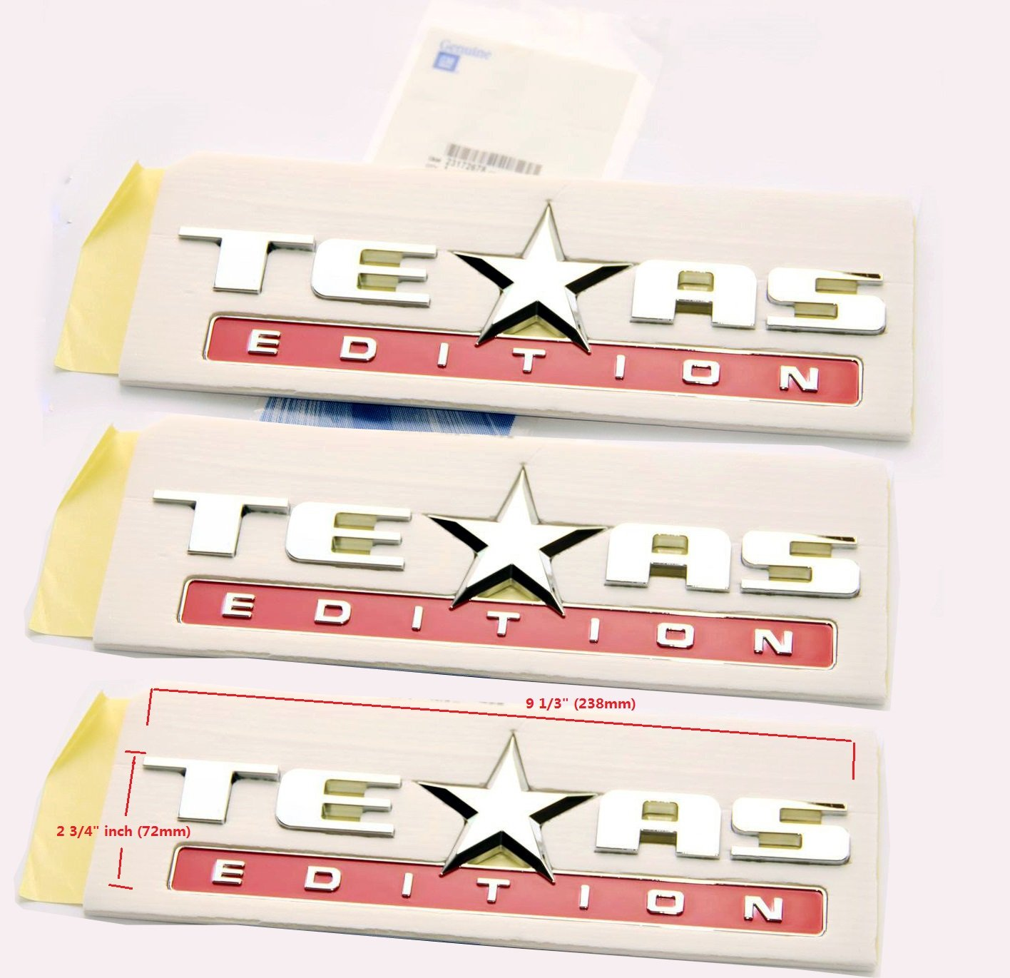 Yoaoo-oem/® 3pcs OEM Chrome Sierra Texas Edition Emblem Badge for Chevrolet 07-14 Silverado and Gm GMC 3pcs silver2