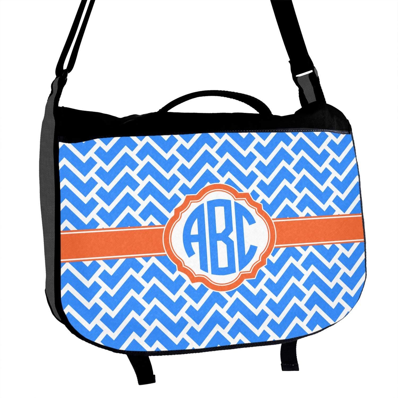 Zigzag Messenger Bag Personalized