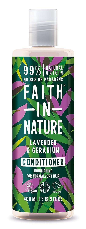 Faith in Nature - Balsamo con Lavanda e Geranio 100% Naturale Per tutti I Tipi di Capelli - Per Lavaggi Frequenti - Senza Parabeni - Vegano Faith Products FAITH-LGC