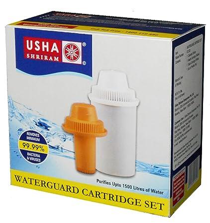 Usha Shriram Plastic Water Cartridge Filter (White And Yellow)