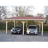 Habrita - HABRITA - Carport double monopente avec couverture bardeau bitumé