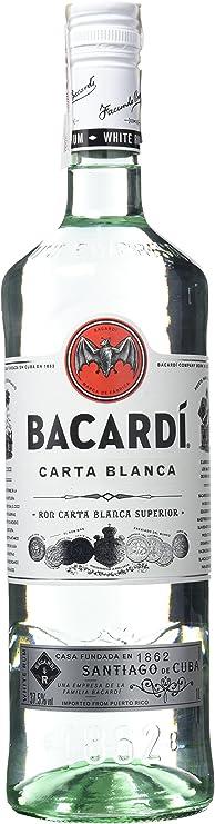 Bacardi Carta Blanca Ron, 1L: Amazon.es: Alimentación y ...