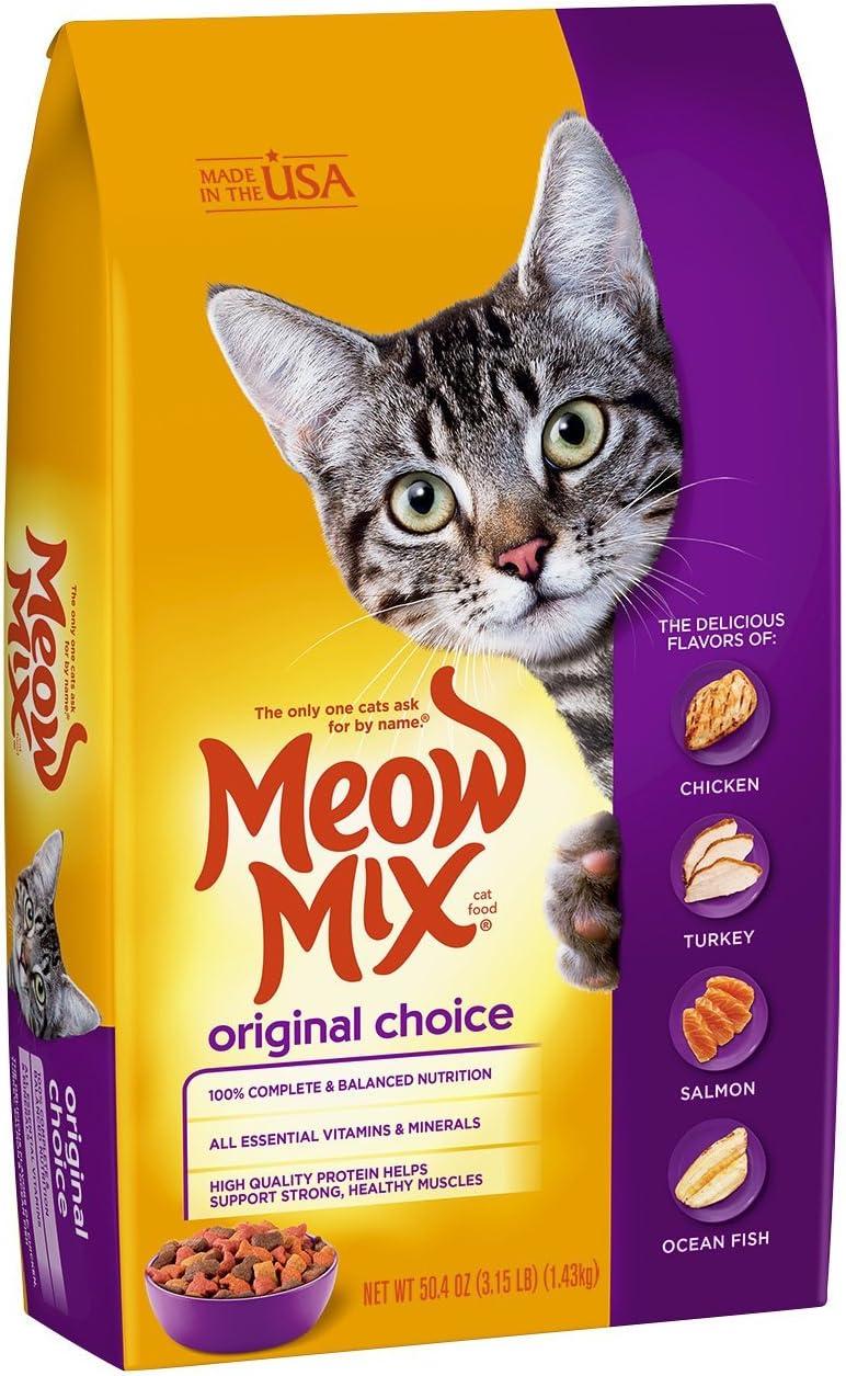 Meow Mix Original Dry Cat Food, 3.15 Lb (Pack Of 3)