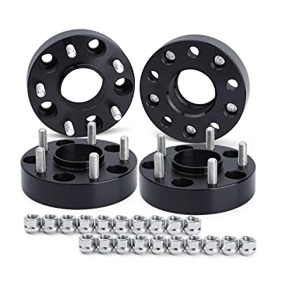 "Wheel Spacers for Jeep JK XK WJ WK, Dynofit (set of 4) 5x5 to 5x5(5x127) 71.5mm 1/2-20 1.5"" Forged HubCentric Wheels Spacer for Wrangle JKU Sahara Rubicon Sport, Grand Cherokee WJ WK, Commander XK: Automotive"
