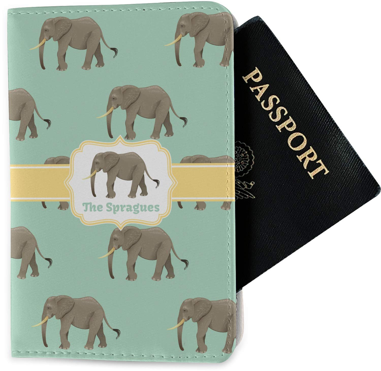 Personalized Fabric Elephant Passport Holder