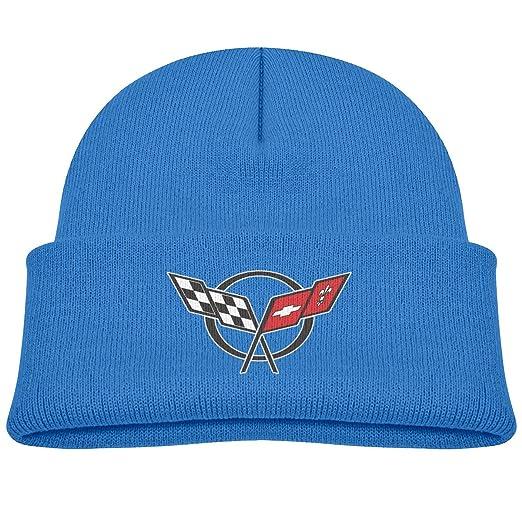 0a66a558 Amazon.com: Kids Corvette and Chevrolet Sports Car Beanie Hats Cute ...