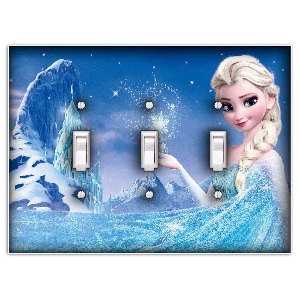 Decorative Switch Plate Cover Elsa Frozen Single Toggle Light Switch Cover
