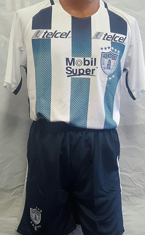 新しい。Club DeportivoパチューカFC Home Short and Jersey 2 pcサイズLarge B07B263BV4