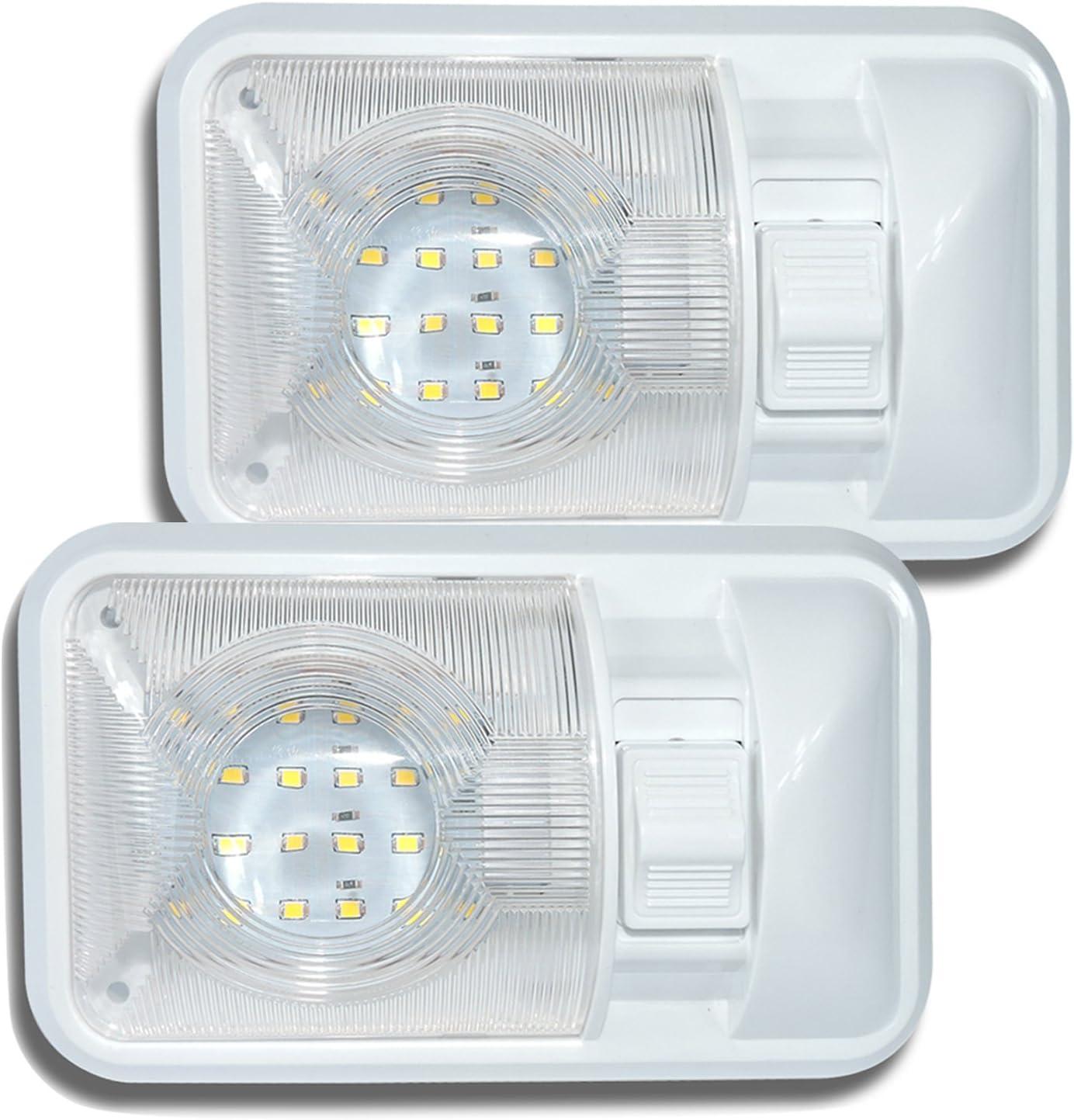 amazon com lighting rv parts \u0026 accessories automotive exteriorleisure led 2 pack 12v rv ceiling dome light rv interior lighting for trailer camper with