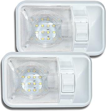 2 Pack 12V Led Rv Ceiling Dome Light Rv Interior Lighting For Trailer Camper Wit