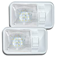 2 Pack 12V Led RV Ceiling Dome Light RV Interior Lighting for Trailer Camper with Switch, Single Dome 280LM