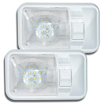 Fine Amazon Com Leisure Led 2 Pack 12V Led Rv Ceiling Dome Light Rv Wiring Digital Resources Attrlexorcompassionincorg