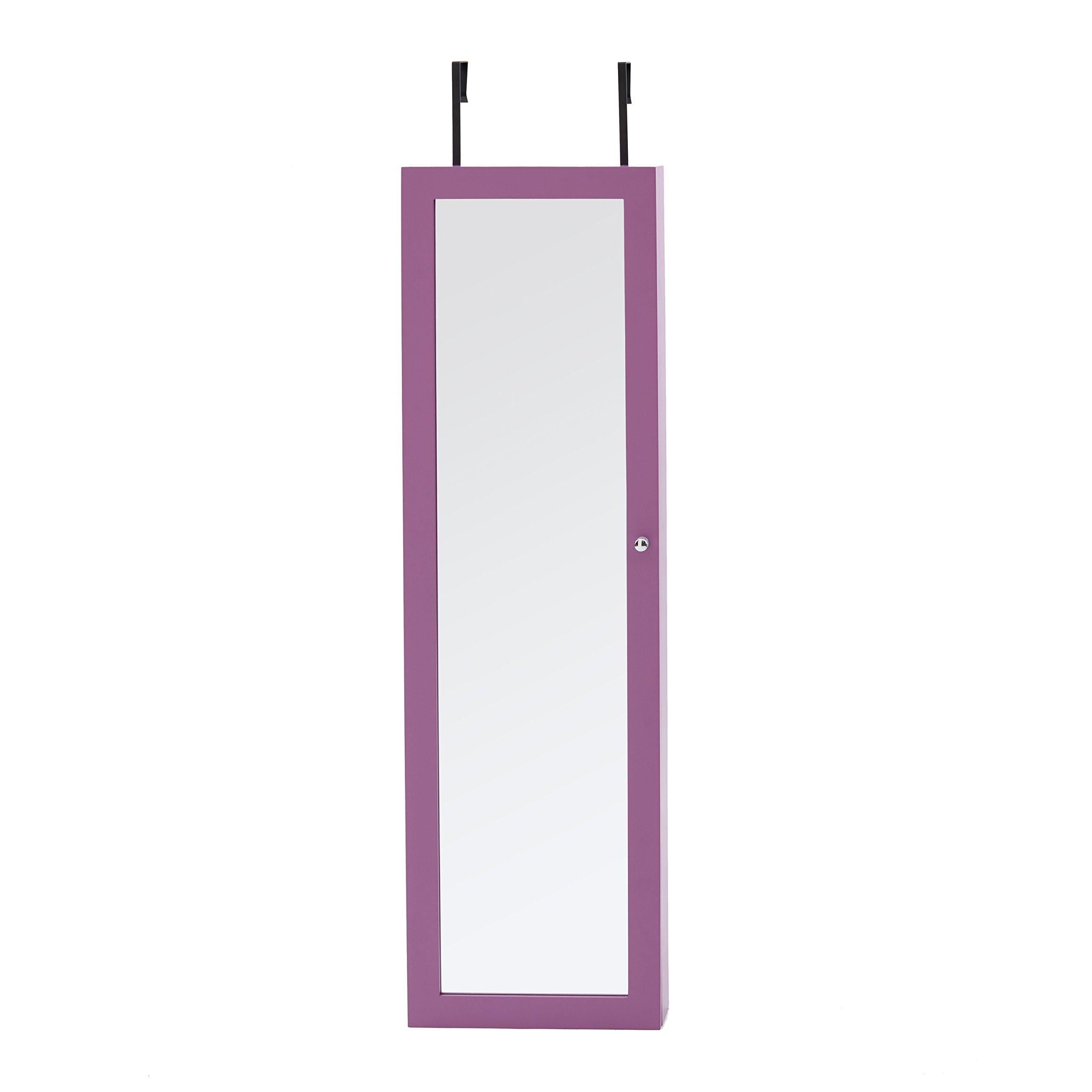Mirrored Jewelry Armoire, Purple