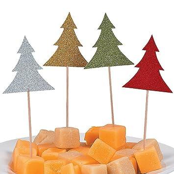 Muffin Tannenbaum.Elfen Und Zwerge 12 X Glitzer Tannenbaum Picks Spieße Fingerfood