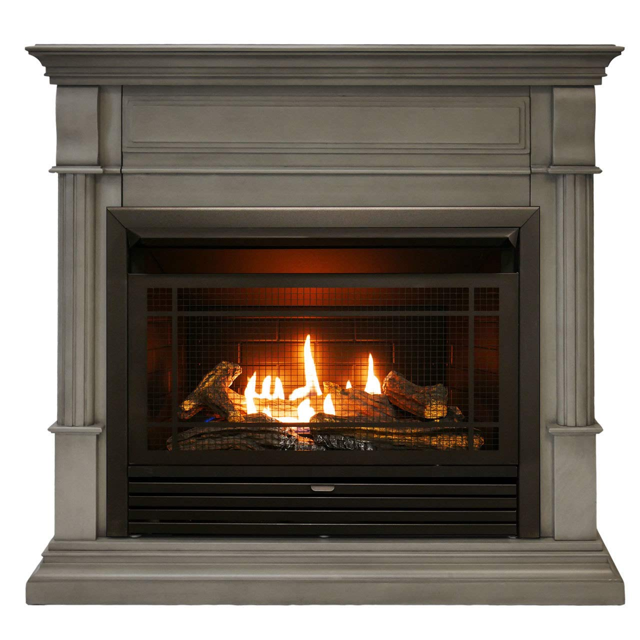 Duluth Forge DFS-300R-2GR Dual Fuel Ventless Gas Fireplace-26,000 BTU, Remote Control, Slate Gray Finish, Grey by Duluth Forge