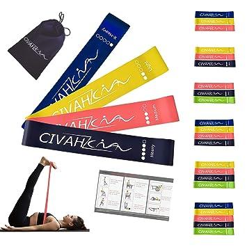 Bandas de resistencia látex natural banda de resistencia Entrenamiento para hysical terapia Yoga Pilates rehabilitación deporte Fitness cinturón set of 4