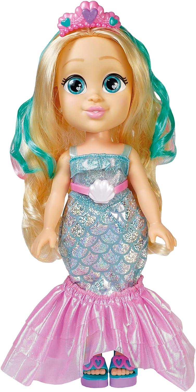 Famosa - Muñeca de Love Diana con vestido transformable de Sirena a vestido de Fiesta y accesorios de juego, para jugar a las aventuras de Diana, para niñas y niños mayores de 4 años (LVE08000)