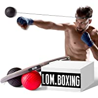 LOM Boxing Fight Ball with Two Different Balls, Gym Set, Trainer for Workout and Fitness, Headband Ball for Speed Punch,for All Ages and Levels