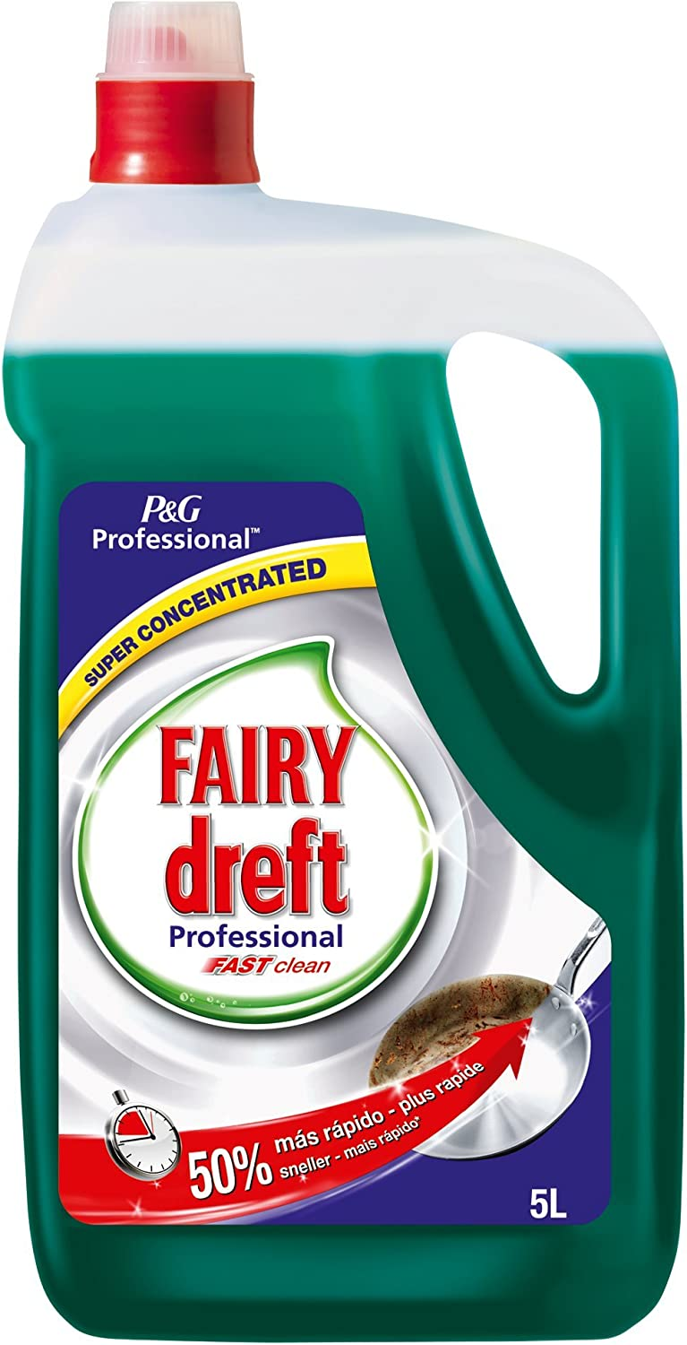 Fairy Professional Fast Clean, Lavavajillas, Líquido - 5 L: Amazon ...