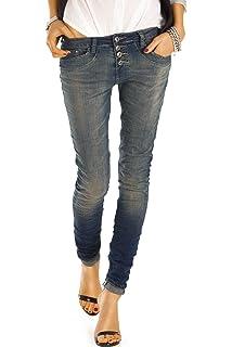 bestyledberlin Damen Jeans, Boyfriend Jeans, Slim Fit Hosen, Stretch  Jeanshosen j41f 92d977c196